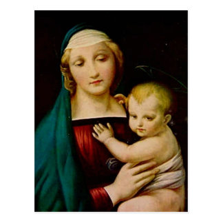 Mother and Child Christmas Postcard