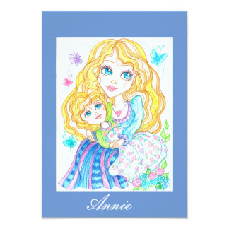 Mother and Child Fantasy Baby Shower Invitation