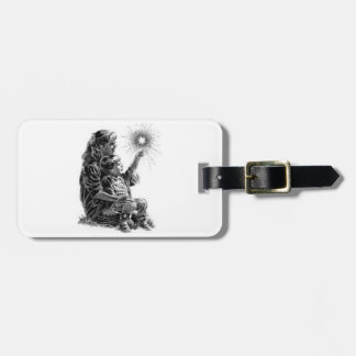 Mother and Child Fourth of July Travel Bag Tags