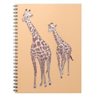 Mother and child giraffes drawing custom Notebooks