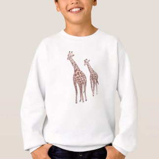 Mother and child giraffes drawing shirts