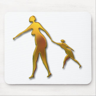 Mother and child-gold mouse pad