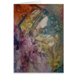"""""""Mother And Child"""" Greeting Card"""