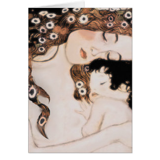 Mother and Child Gustav Klimt Note Card