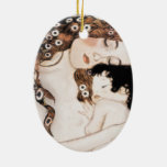 Mother and Child Gustave Klimt Ceramic Ornament