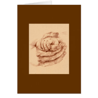 Mother and child hands card