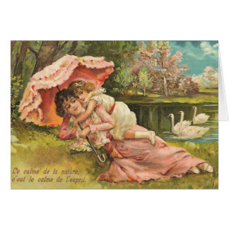 Mother and Child in Park Greeting Cards