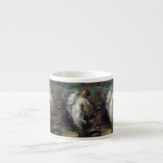 Mother and Child in White Espresso Cup