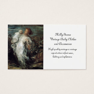 Mother and Child in Wind Business Card