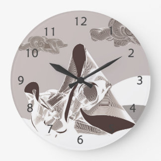 Mother and Child Large Clock