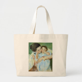 Mother and Child Large Tote Bag