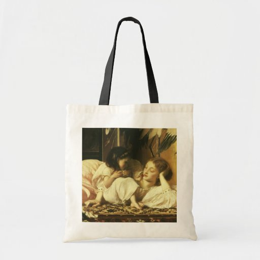 Mother and Child, Leighton, Vintage Victorian Art Bag