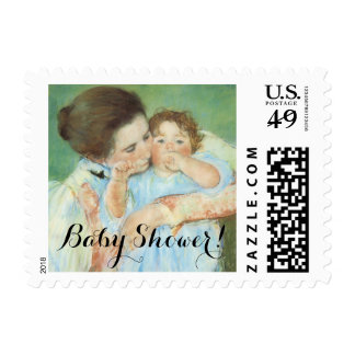 Mother and Child Mary Cassatt, Vintage Baby Shower Postage