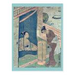 Mother and child near mosquito by Suzuki,Harunobu Post Cards
