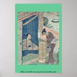 Mother and child near mosquito by Suzuki,Harunobu Posters