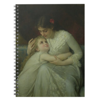 Mother and Child (oil on canvas) Notebook