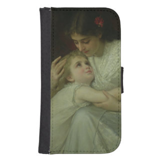 Mother and Child (oil on canvas) Samsung S4 Wallet Case