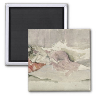 Mother and Child on a Couch Refrigerator Magnet