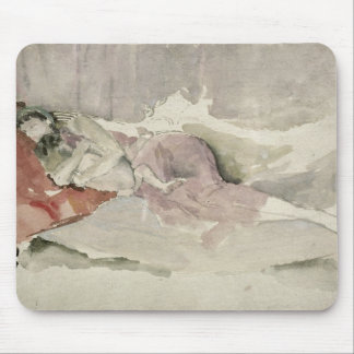 Mother and Child on a Couch Mouse Pad