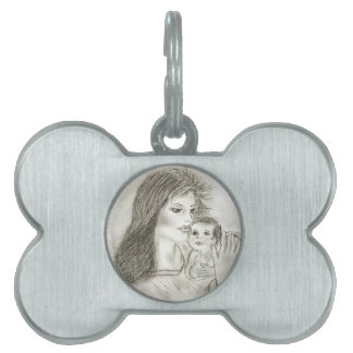 Mother and Child Pet ID Tag