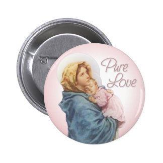 Mother and Child Pinback Button