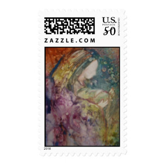 """""""Mother And Child"""" Postage Stamp"""