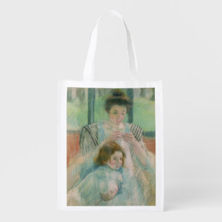 Mother and child reusable grocery bag
