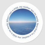 Mother and Child Round Sticker