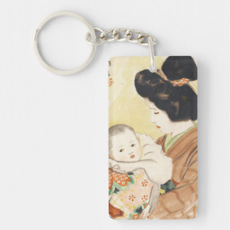 Mother and Child Shinsui Ito japanese portrait art Keychain