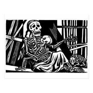 """Mother and Child Skeletons"" by Leopoldo Mendez Postcard"