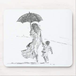 Mother and Child Sri Lanka Mouse Pad