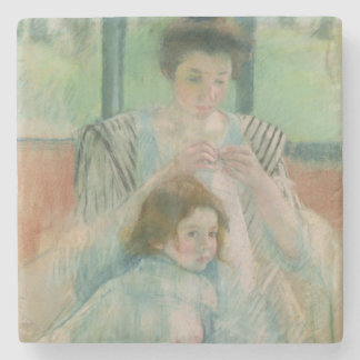 Mother and child stone coaster