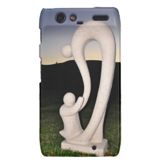 Mother and Child Stone Sculpture Droid RAZR Covers