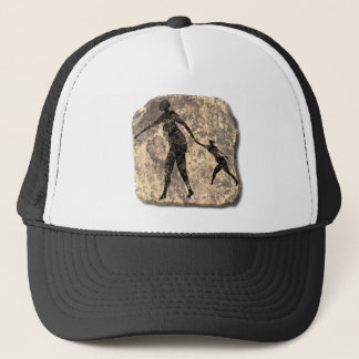 Mother and child-stone trucker hat
