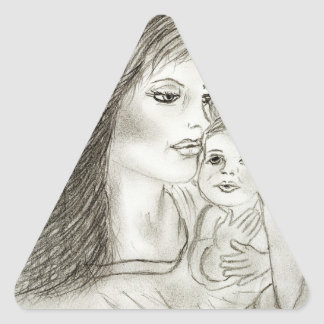 Mother and Child Triangle Sticker
