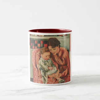 mother and child Two-Tone coffee mug