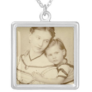 Mother and Child Victorian Photo Necklace