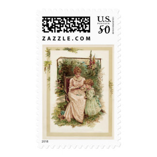 Mother and Child Vintage Reproduction Postage