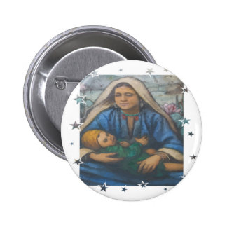 Mother and Child with Star Border Pin