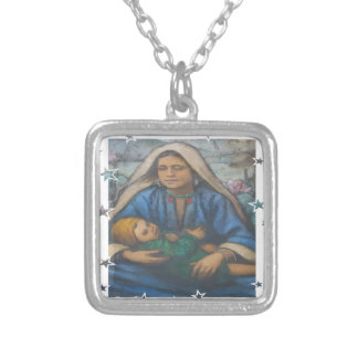 Mother and Child with Star Border Necklaces