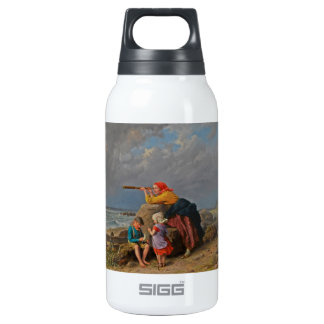 Mother and Children Looking Out to Sea Insulated Water Bottle
