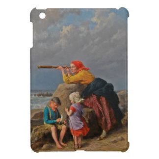 Mother and Children Looking Out to Sea iPad Mini Cases