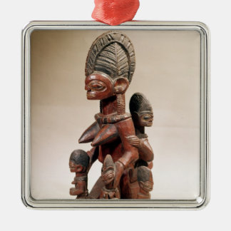 Mother and children metal ornament