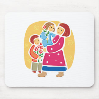 Mother and Children Mouse Pad