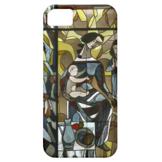 MOTHER AND CHILDREN STAINED GLASS COVER FOR iPhone 5/5S