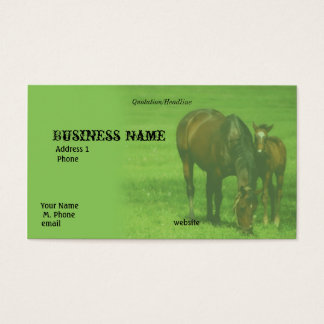 Mother and Colt Grazing Business Card