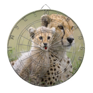 Mother and cub Cheetahs Dartboard With Darts
