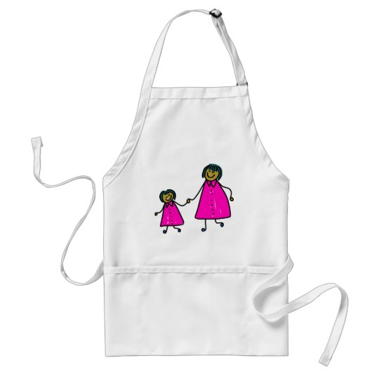 Mother And Daughter Adult Apron