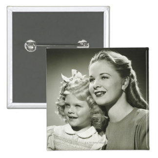 Mother and Daughter Button