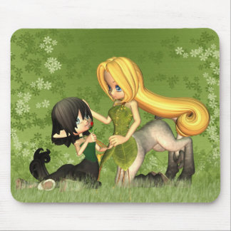 Mother And Daughter Centaur In The Grass Mouse Pad